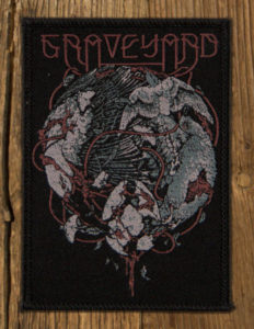 "GRAVEYARD ""Fen Fire Bird"" Patch BLACK iron on"