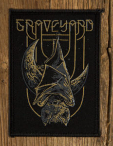 "GRAVEYARD ""Bat Rising"" Patch BLACK iron on"