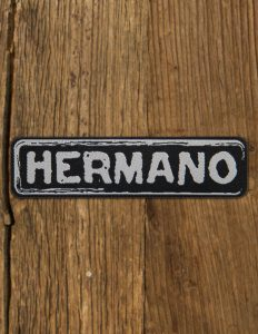 "HERMANO ""Logo"" patch BLACK"