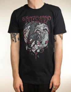 "GRAVEYARD ""Fen Firebird"" T-Shirt BLACK - XL"