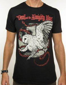 "THE DEVIL AND THE ALMIGHTY BLUES ""owl"" T-Shirt"" BLACK - S"