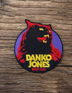 "DANKO JONES ""Wild Cat"" Cutout Patch BLACK"