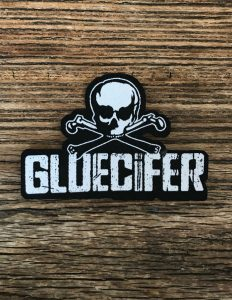 "GLUECIFER ""Skull Logo"" Cut-Out Patch BLACK"