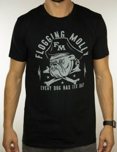 "FLOGGING MOLLY ""Bulldog"" T-Shirt BLACK - S"