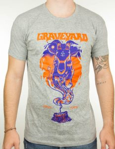 "GRAVEYARD ""Satan"" T-Shirt GREY - XL"