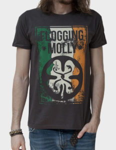 "FLOGGING MOLLY ""Split"" T-Shirt DARK GREY - S"