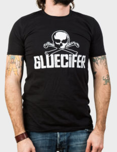 "GLUECIFER ""Skull"" T-Shirt BLACK - XL"