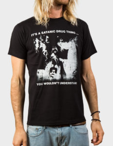 "MONSTER MAGNET ""Satanic Drug Thing"" T-Shirt BLACK - M"