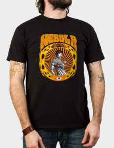 "NEBULA ""Swirl Girl"" T-Shirt BLACK - 2XL"