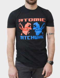 "THE ATOMIC BITCHWAX ""EvilTwinSpock"" T-Shirt BLACK - XL"