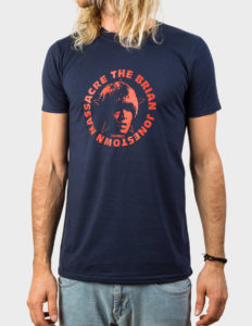 "THE BRIAN JONESTOWN MASSACRE ""Logo"" T-Shirt NAVY BLUE - XL"