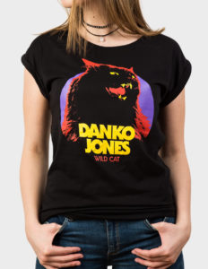 "DANKO JONES ""Wild Cat"" Girls Tee BLACK - S"