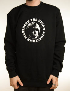 "THE BRIAN JONESTOWN MASSACRE ""Logo"" Sweatshirt BLACK - S"