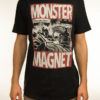 "MONSTER MAGNET ""Space Lord Vintage"" Earth Positive T-Shirt DYED BLACK // Fashion Edition"