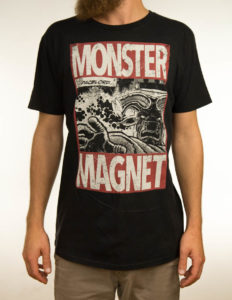"MONSTER MAGNET ""Space Lord Vintage"" Earth Positive T-Shirt DYED BLACK // Fashion Edition - S"