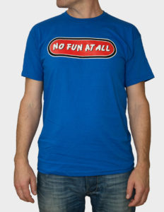 "NO FUN AT ALL - ""Classic Logo"" T-Shirt ROYAL BLUE - S"