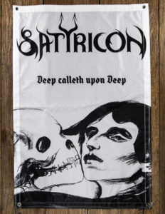 "SATYRICON ""Deep Calleth Upon Deep"" FLAG WHITE/BLACK"