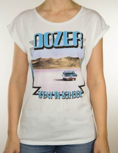 "DOZER ""StayInSchool"" Girl Shirt WHITE - S"