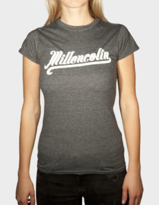 "MILLENCOLIN ""Baseball Logo"" Girls Tee DARK HEATHER - S"