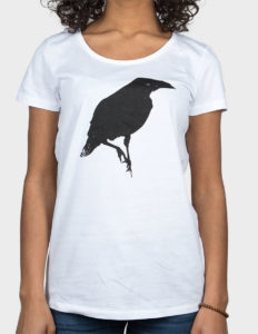 "THIEFAINE ""Corbeau"" Girls Tee WHITE - S"