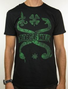 "FLOGGING MOLLY ""snake vintage"" T-Shirt BLACK - S"