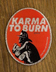 "KARMA TO BURN ""fireman"" Patch RED"
