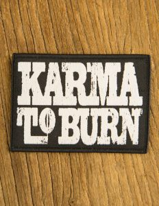"KARMA TO BURN ""logo"" Patch BLACK"