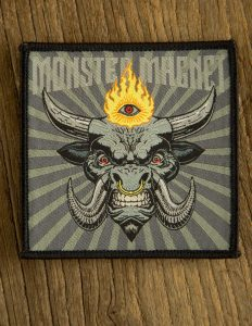 "MONSTER MAGNET ""mindfucker"" Patch GREY"