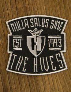"THE HIVES ""nulla salus"" Patch Embroidered BLACK"