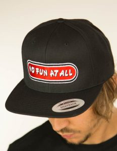 "NO FUN AT ALL - ""Classic Logo"" Snapback BLACK"