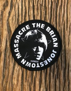 "THE BRIAN JONESTOWN MASSACRE ""Logo"" Patch BLACK"