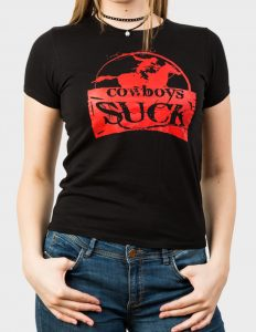 "HERMANO ""Cowboy"" Girl Shirt BLACK - S"