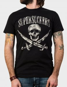 "SUPERSUCKERS ""Jolly Roger"" T-Shirt BLACK - 2XL"