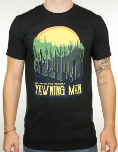 "YAWNING MAN ""Cactus"" T-Shirt BLACK - XL"