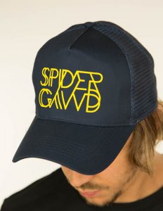 "SPIDERGAWD ""Logo"" Trucker Cap NAVY"