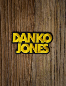 "DANKO JONES ""Logo"" Patch BLACK/YELLOW"