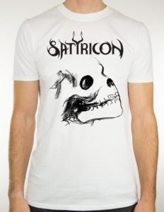 "SATYRICON ""Deep Calleth Upon Deep"" T-Shirt WHITE - XS"