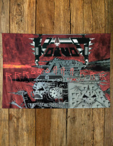 "VOIVOD ""Roar"" Flag RED"