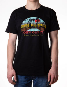 "JOHN GARCIA ""Palm Springs"" T-Shirt BLACK - S"