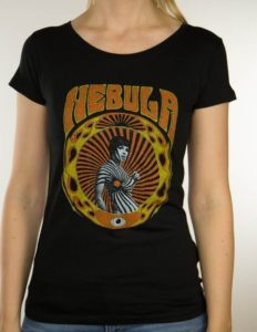 "NEBULA ""swirl girl"" GIRLIE-shirt BLACK - S"