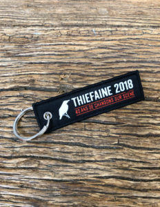 "THIEFAINE ""Si Ca Continue..."" Key Fob BLACK"