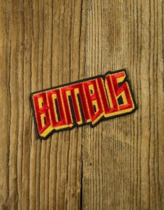 "BOMBUS ""Logo"" Cut-out Patch RED"