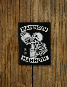 "MAMMOTH MAMMOTH ""Drunken Skull"" Patch BLACK"