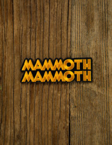 "MAMMOTH MAMMOTH ""Logo Cut Out"" Patch GOLD"