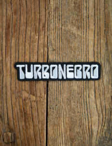 "TURBONEGRO ""80s Logo"" Patch BLACK/WHITE"