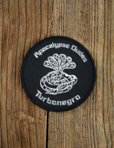 "TURBONEGRO ""Apocalypse Dude"" Patch BLACK/SILVER"