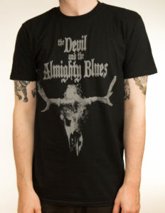 "THE DEVIL AND THE ALMIGHTY BLUES ""Moose Skull"" T-Shirt BLACK - S"