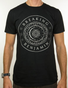 "BREAKING BENJAMIN ""Circle EU Tour 2017"" T-Shirt BLACK - XL"