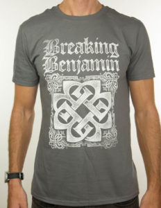 "BREAKING BENJAMIN ""Grey Logo"" T-Shirt GREY - M"
