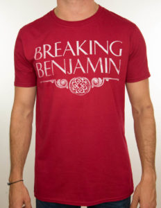 "BREAKING BENJAMIN ""logo tour"" T-Shirt RED - XL"